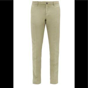 Incotex Chinolino Cotton/Linen Khaki 32